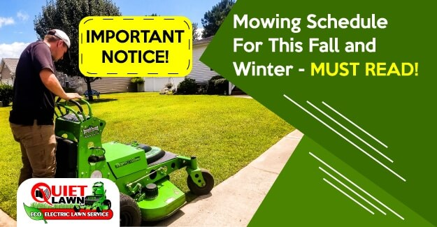 Mowing Schedule In Winter And Summer